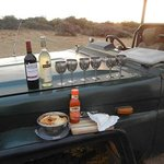 Sundowners on the drive
