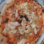 Pizza pollo y verduras