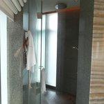 Bathroom with rain showerhead