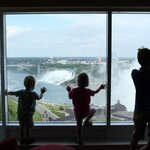 We looked right down on the Horseshoe falls but we also had a clear view to the American Falls