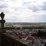 Sur le toit de la cathédrale, vue de la campagne environnante