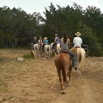 Horseback riding in the hills