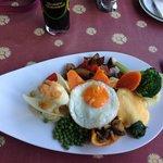 Dinner (Vegetable platter)