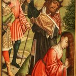 St. Barbara about to be beheaded
