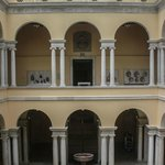The museum's central atrium