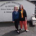 My Friend and I outside Loch Fyne Restaurant