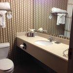 standard small hotel bathroom