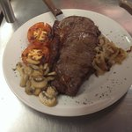 Welsh Sirloin Steak, cooked to your liking with all the trimmings