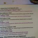 menu descriptions