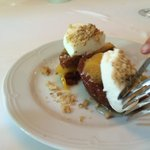 Peach Walnut dessert