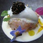 Tartare de langoustines et caviar d'Aquitaine