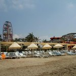 Beach - fair ground and water park in the back ground