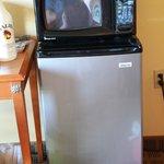 microwave did not work, fridge was OK