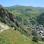 Vue de Valloire en descendant de Poingt Ravier