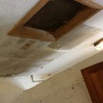 Ceiling in the shower/toilet block