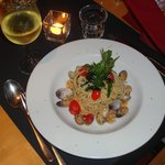 Main course - Spaghetti with clams and tomatoes 1