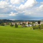 Blick vom Zimmer Richtung Lindau(D)