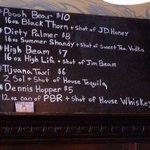 Great drinks menu !