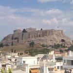 Acropolis view from the rooftop