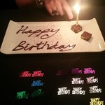 Our birthday treat from the staff @ Porto