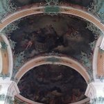 Frescoes on the ceiling of the cathedral