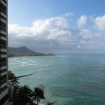 View of the beach from The Sheraton Waikiki