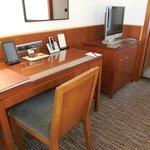 Desk & TV in Room