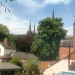 View from our window, Lichfield Cathedral