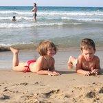 на чудесном пляже