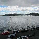 View of the bay at Oban from our room at the Glenburnie Guest House
