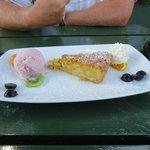 Warm Pear & Almond Tarte