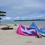 plage d'a cote parfait pour le kite