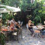 Comedor en el area del jardin