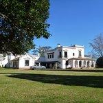 The hacienda across the grounds.
