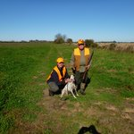 Perdiz hunting with the guide and his dog.