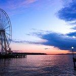 Great wheel over the ocean