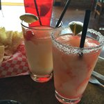 Blackberry Moonshine Margarita and Strawberry Moonshine Margarita