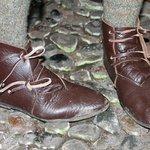 Hand made Tudor style shoes.