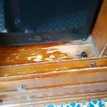 Tatty damaged closet
