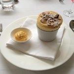 Soufflé of Provencal apricots & almonds