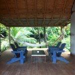 perfect lounging area between cabana 1 and 2