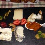 Dessert cheese tray at the Goldman