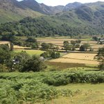 Looking down onto the farm from the fells above