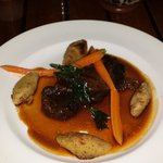 Beef cheeks braised in tempranillo sauce. Heavenly