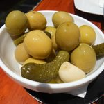 El Capitan giant olives with garlic and pickles