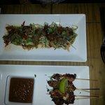 Thai yam nua beef salad & Satay skewers starters yum!