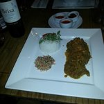 Malaysian Beef Rendang curry with extra chilli's  Hot!