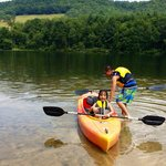 Rowing around the lake