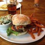Elk Burger and Maple Beer