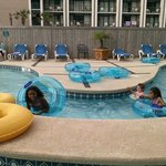 Small lazy river at pool area not waterpark.